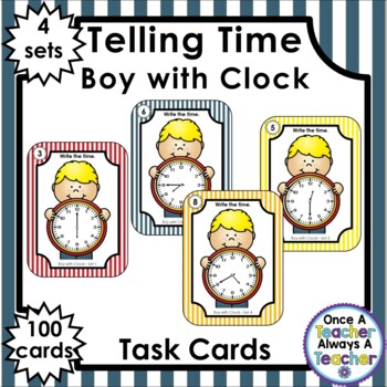 Time Task Cards - Boy with Clock