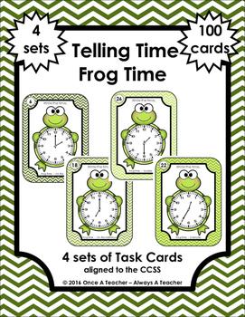 Time Task Cards - Frog Time