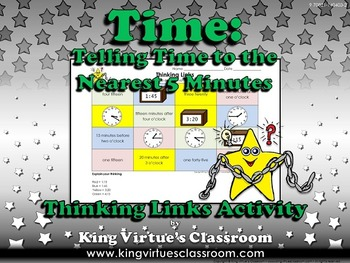 Time: Telling Time to the Nearest 5 Minutes Thinking Links