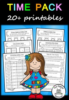 Time - Telling the time printables worksheets (analog & di