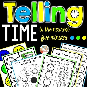 Time - Telling time to the nearest five minutes