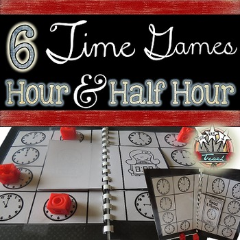 Telling Time Games:  Time to the Hour and Half Hour