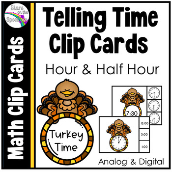 Thanksgiving Activities * Telling Time * Time To The Hour