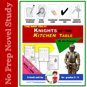 Time Warp Trio #1 Knights of the Kitchen Table Book Unit
