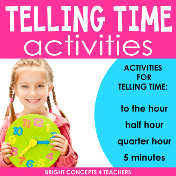 Time Will Tell!-Telling Time Centers {Common Core Aligned}
