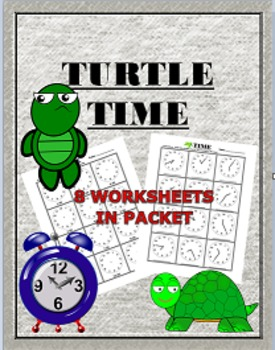 First Grade Time Worksheets Turtle Theme