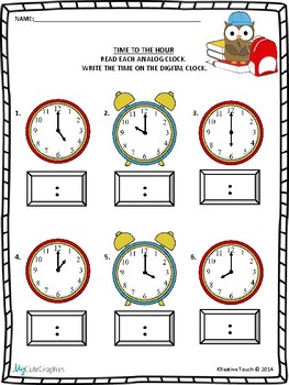 Time and Temperature Worksheet Packet