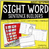 Time for School! {Predictable Sentence Builders for Little