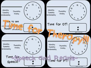 Time for Therapy: Speech, OT, PT and More
