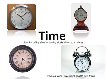 Time part 3 - reading clocks to 1 minute - Teaching With P