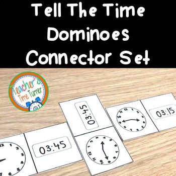 Time - tell the time dominoes - free connector set