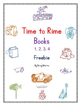 Word Families Word Work: Time to Rime Books 1, 2, 3, 4 Freebie