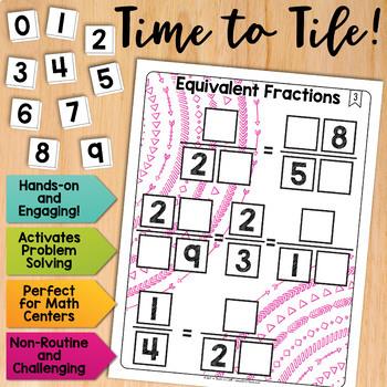 Math Tiles: Equivalent Fractions | Math Centers