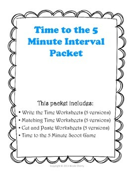 Time to the Five Minute Increment Packet