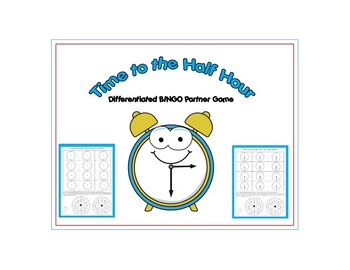 Time to the Half Hour Differentiated BINGO Partner Game Center