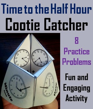Telling Time to the Half Hour Activity/ Telling Time to th