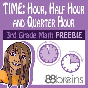 Time to the Hour, Half Hour & Quarter Hour FREEBIE pgs. 1