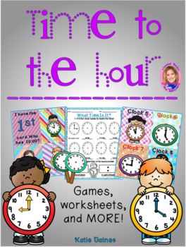 NEW Time to the Hour- Primary Grades!