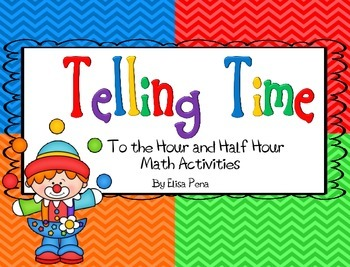 Time to the Hour and Half Hour Activities/Games