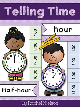 Time to the Hour and Half-Hour - Clothespin Math Center
