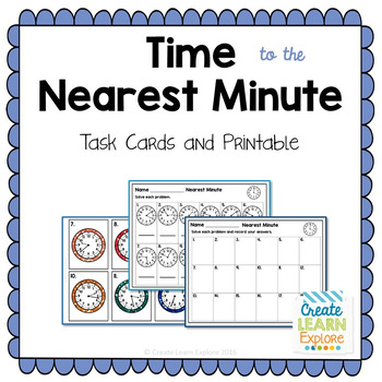 Time to the Nearest Minute Task Cards