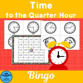 Time to the Quarter Hour Bingo