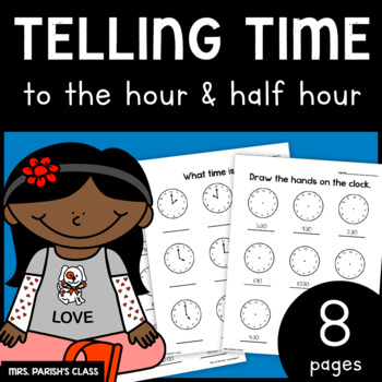 Time to the hour and half an hour!  PRINT AND GO!
