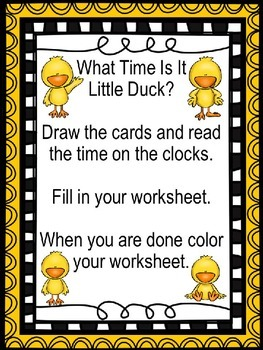 What Time is it Little Duck?
