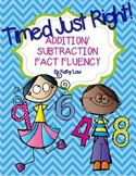 Timed Just Right - Addition & Subtraction Fact Fluency