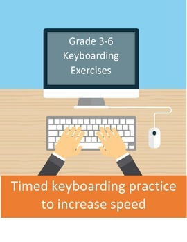 Timed keyboarding practice for grade 3-6