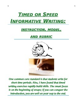 Timed or Speed Writing: Informative or Expository