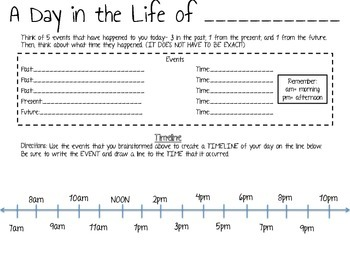 Timeline Activity- A Day in the Life of...