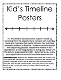 Timeline Posters ~ includes everyday items kids can relate to!