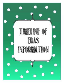 Timeline of Eras Information