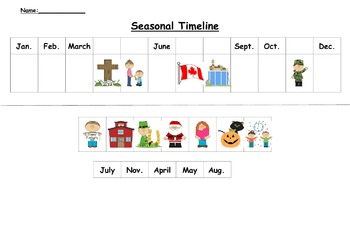 Seasonal and Personal Timelines (Canadian Version)