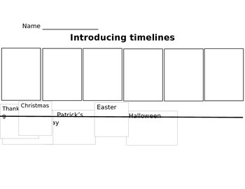 Timelines with holidays