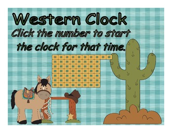 Timer - Western Clock - Up to 60 Minutes