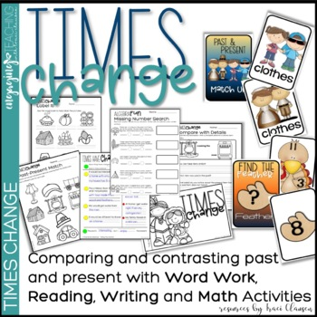 Thanksgiving Word Work, Writing and Math - Times Change