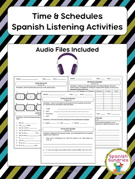 Times & Schedules Spanish Listening Activities