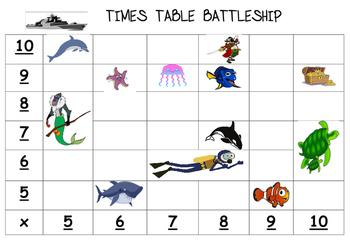 Times Table Battleship