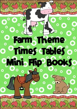 Times Table Flip Books - Farm Theme