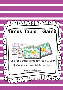 Times Table Game Grades 1/2