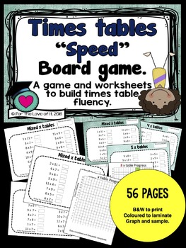 "Times Table ""SPEED"" - Build fluency with multiplication ta"