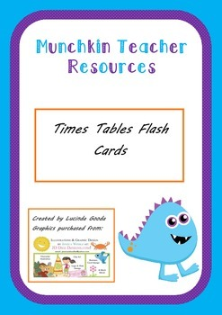 Times Tables Cards up to 12