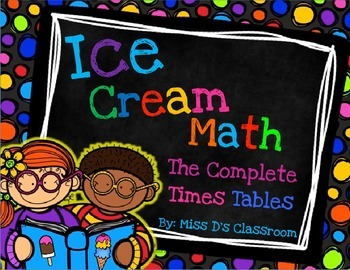 Ice Cream Math: Times Tables 2 - 12