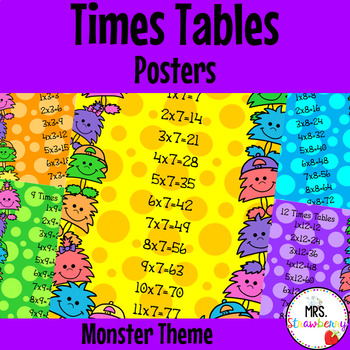 Times Tables Posters {Monster Theme}