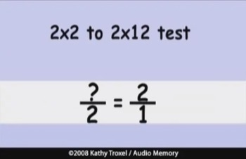 Times Tables Practice 2s to 4s with Fractions by Kathy Troxel