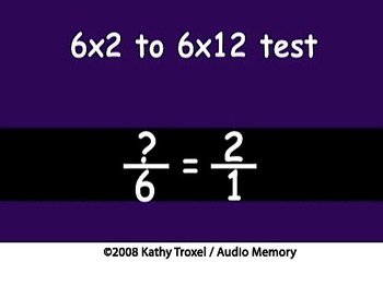 Times Tables Practice 2s to 6s with Fractions mp4 Sing Alo