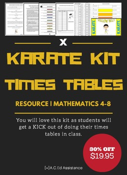 Times Tables Practise - Karate Kit