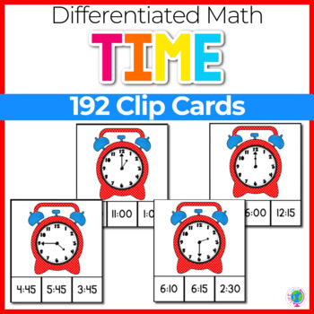 Time's Up! Clothespin/Clip Cards for telling time from hou